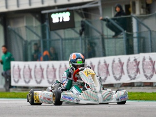 Hiltbrand leads Tony Kart podium.
