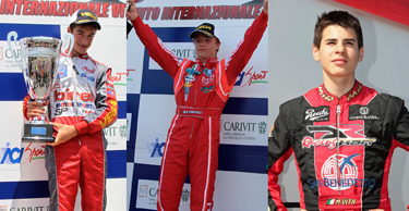 SELECTED THE FIRST THREE ITALIAN CSAI KARTING CHAMPIONSHIP DRIVERS FOR THE FERRARI DRIVER ACADEMY