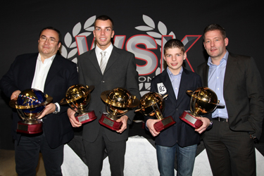 In the 2010 WSK prize-giving ceremony, CRG-Maxter drivers are celebrated: twelve trophies conquered!