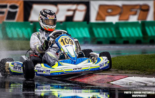 European KF-KFJ Championship wet qualifying at PFI