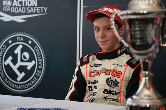 Crg on the podium with Alex Quinn in the European Championship at PFi