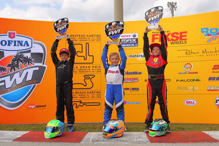 Benik drivers are ROK CUP USA winners and Florida Winter Tour Champions