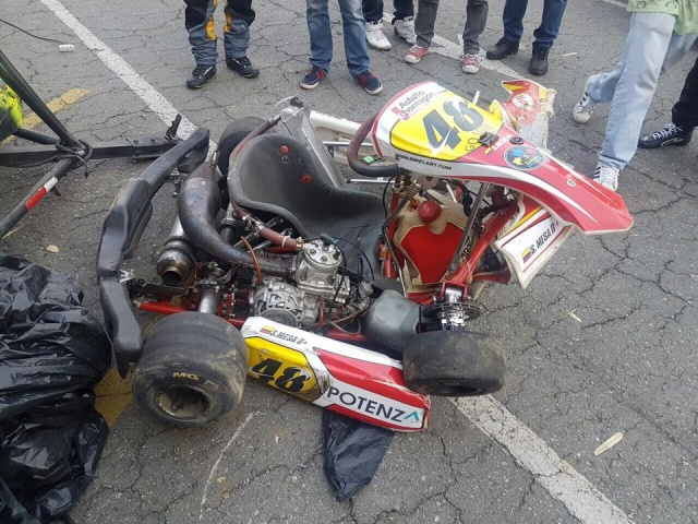 Huge Accident In Colombia Driver In Serious Condition Kart News