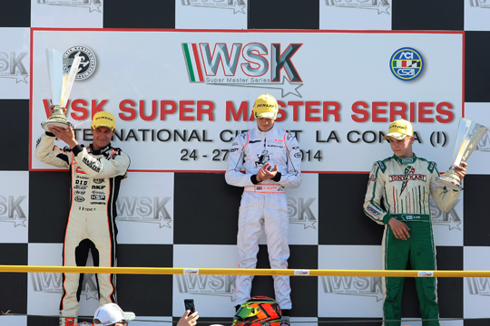 Triple podium for Crg in the closing round of the WSK Super Master