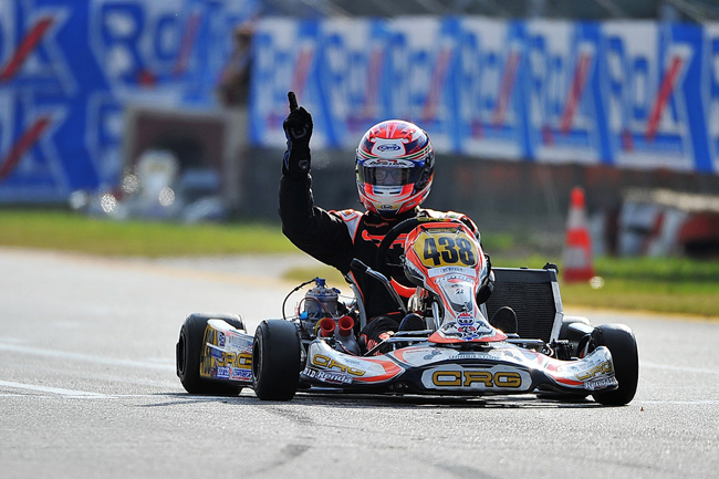 """Pollini with Crg and Renda Motorsport """"cleaned up"""" the Rok Cup International"""
