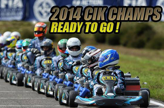 Registration opens for all CIK competitions in 2014