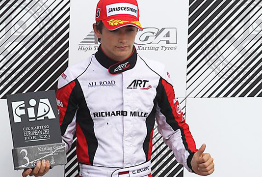 Leclerc on KZ podium for ART Grand Prix European bid