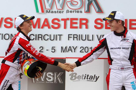 Precious data and two podiums at WSK Master Series