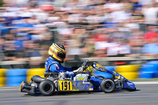 Praga Kart on the podium in Varennes
