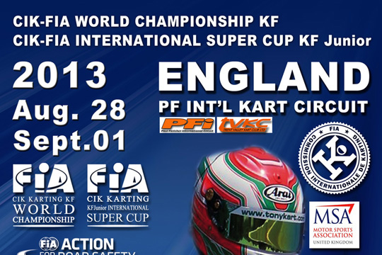 CIK-FIA WORLD KF CHAMPIONSHIP KF & INTERNATIONAL KF JUNIOR SUPER CUP AT BRANDON (GB) - PREVIEW