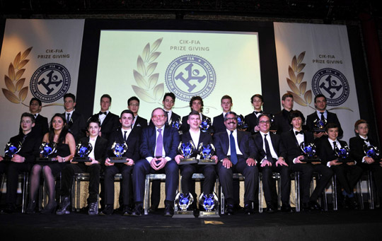 All CIK-FIA Champions in Milan