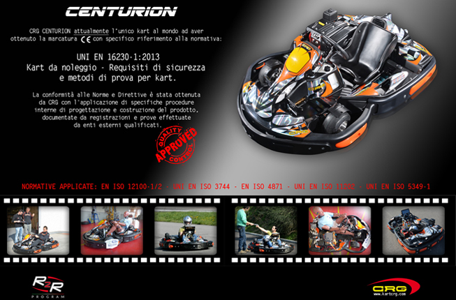 Centurion, the only kart in the world with safety certificate