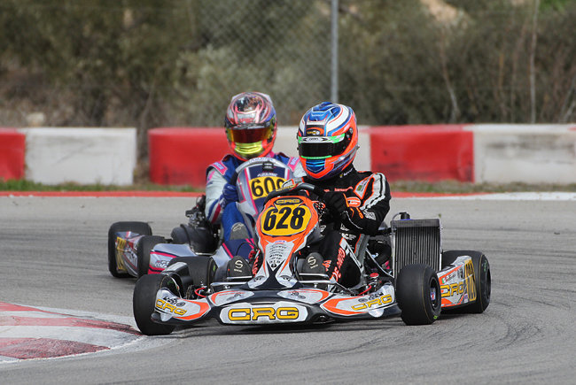 First podium for De Conto with Crg  at the Rotax Winter Cup