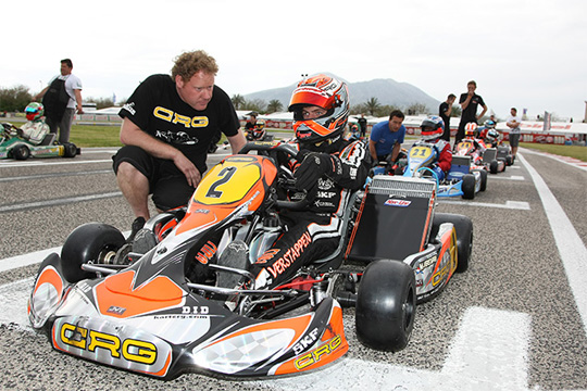 CRG WITH MAX VERSTAPPEN IN FRIULI (NORTHERN ITALY) TO CONFIRM HIS KZ2 LEADERSHIP IN THE WSK MASTER SERIES