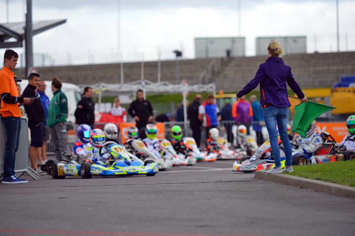 Semi-final at the German Kart Championship