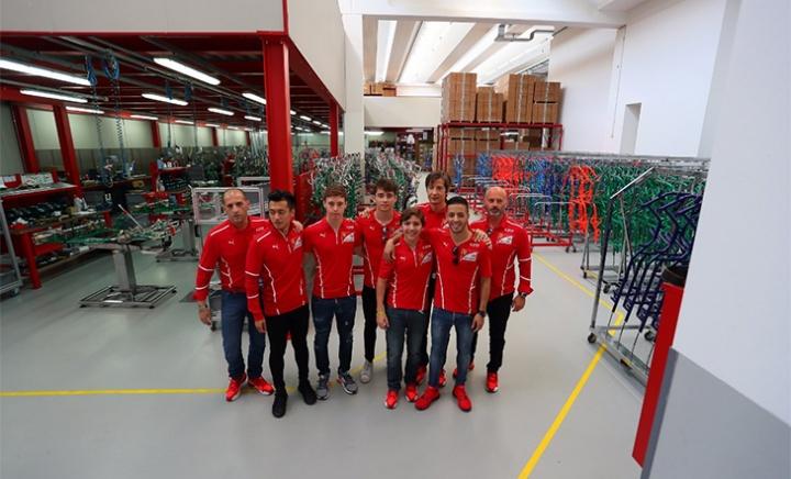 FDA drivers visited the Tony Kart production facility