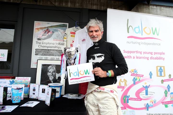 Damon Hill's charity karting thriller raises £16,000 for Halow at Daytona Sandown Park