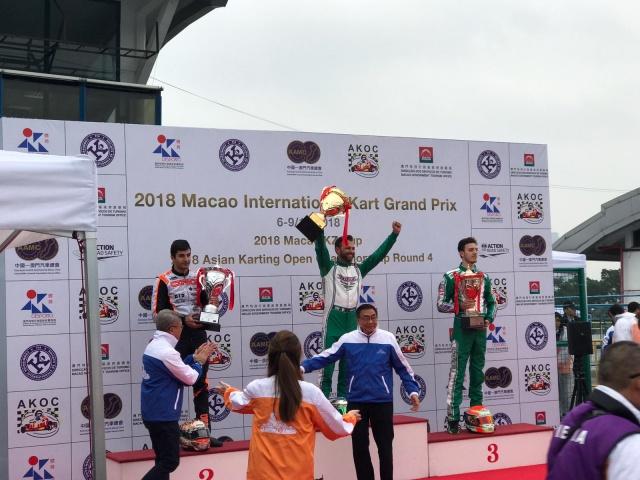 Victory at the Macau Gran Prix in KZ