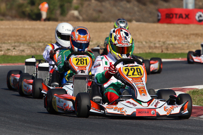 Super fights in the prefinals at the Rotax Grand Finals