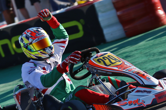 Alex takes the Rotax world title to Italy
