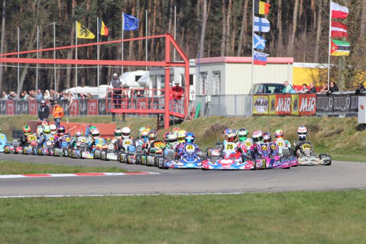 ROTAX MAX Euro Challenge first round at Genk