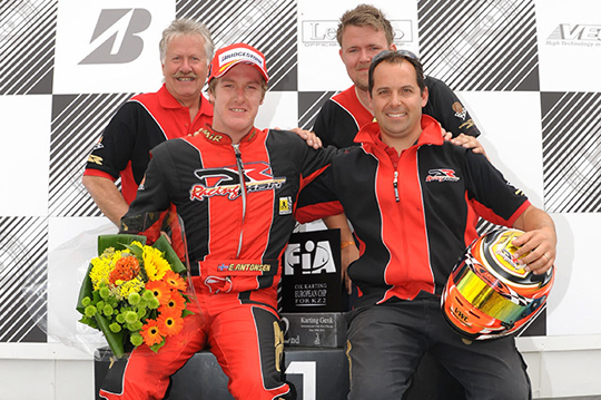 Antonsen conquers the European KZ2 title with DR Racing