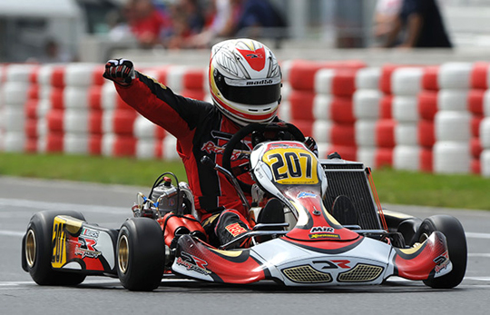 Negro leads the European KZ2 Championship with DR Racing