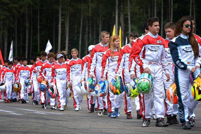 En route for the 2015 CIK-FIA Karting Academy Trophy