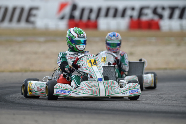 Camponeschi (KZ) and Johansson (KZ2) European Champions, Hanley on podium