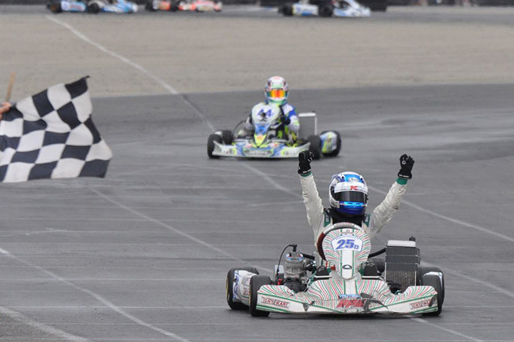 Wet third round for the Los Angeles Karting Championship
