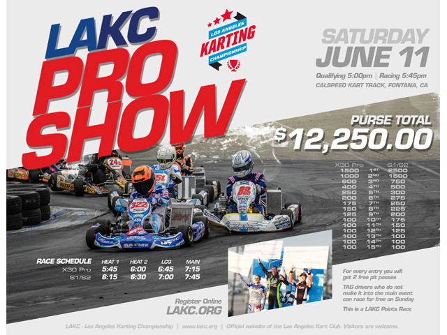 Los Angeles Karting Championship hosting Pro Show on June 11