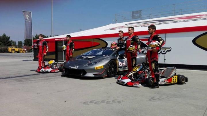 Lamborghini Squadra Corse Kart Drivers Program - first day of training in Adria