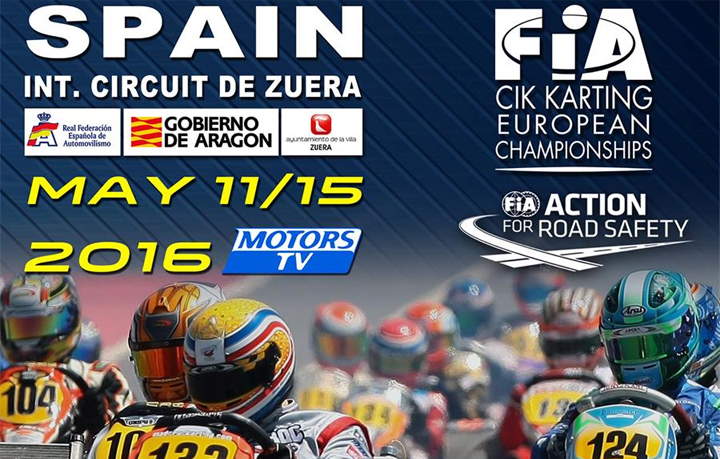 Second round for the CIK-FIA European championship