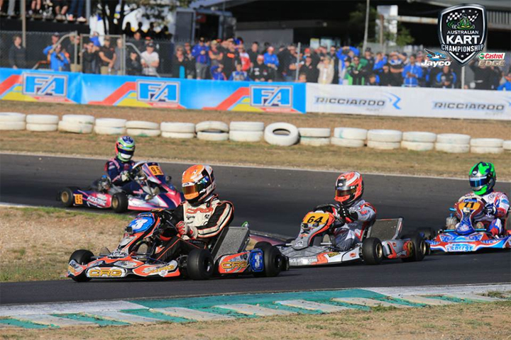 Grant holds the fort for Kiwi karters at Puckapunyal
