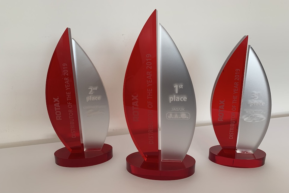 BRP-Rotax has honored its kart distributors of the year 2019