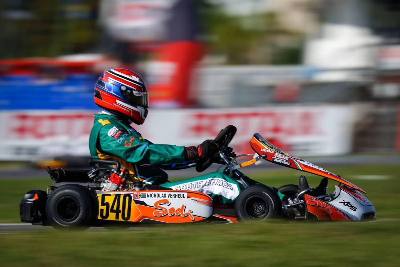 Rotax DD2 chassis with CIK-FIA homologated rear bumper for FIA karting calendar 2020 events.