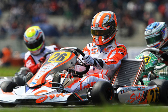 Sodi on European KZ Championship podium