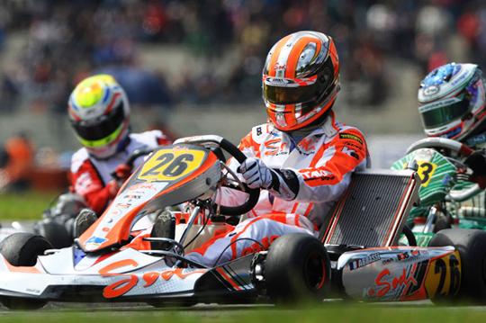 Sodi on European KZ Championship podium