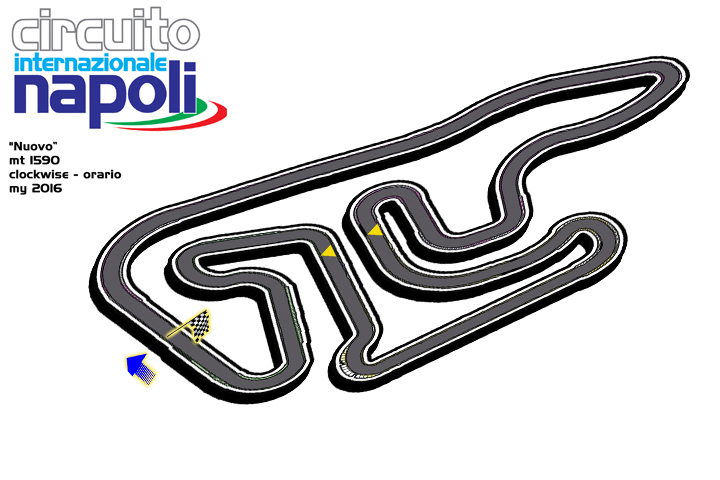 A new track layout for the racing's make up of Circuito Internazionale Napoli