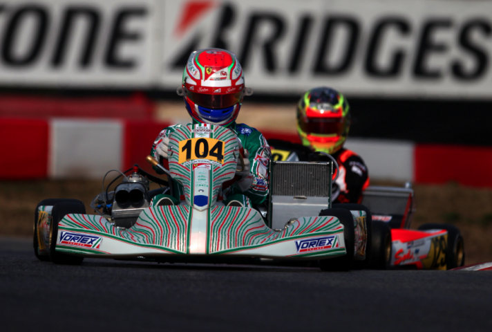 Antonio Fuoco in green colours for the Winter Cup