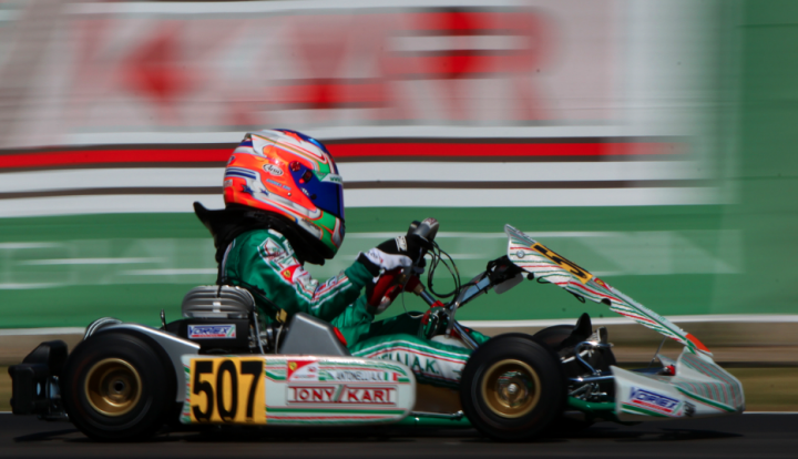 Tony Kart focused on the final sprint in Sarno