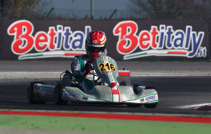 Tony Kart on podium in the last round of the WSK Final Cup