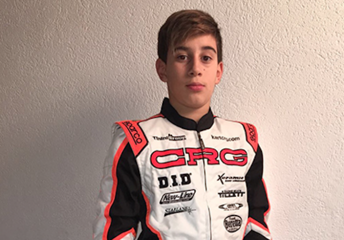 Enzo Trulli with CRG in 2018 for his debut in international races