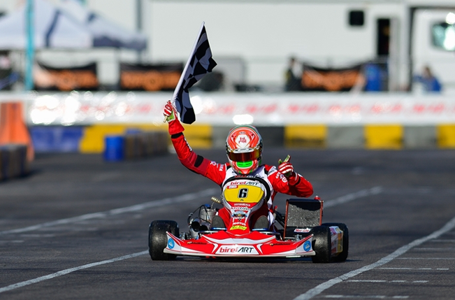 Electrifying international debut for Birel ART in Las Vegas