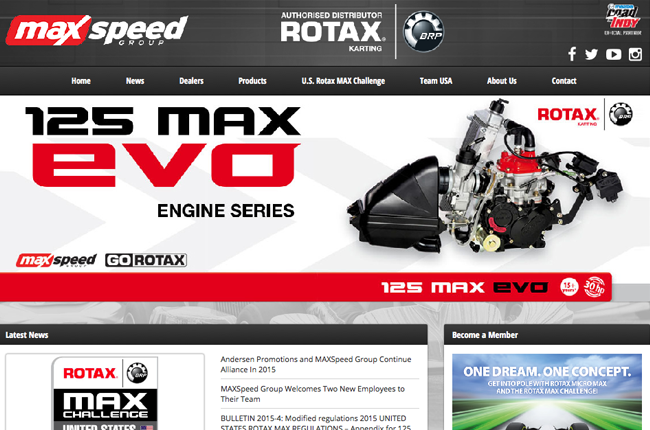 MaxSpeed launches new GoRotax.com website