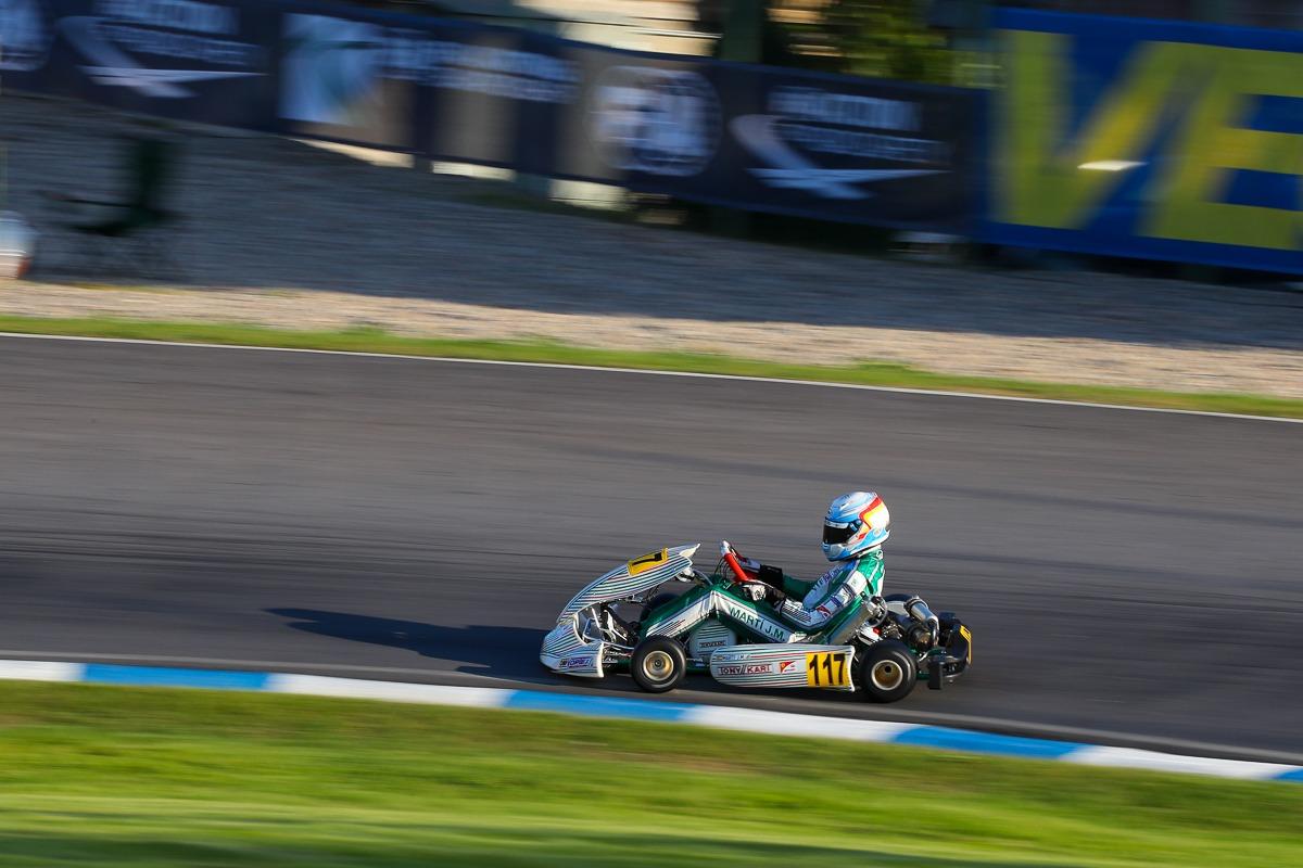 Tony Kart on the World podium