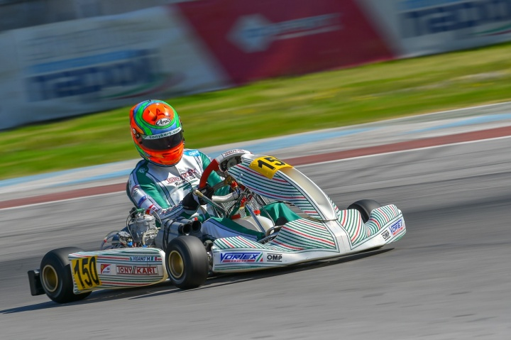Ardigò and Viganò on the podium of WSK Super Master Series in Sarno
