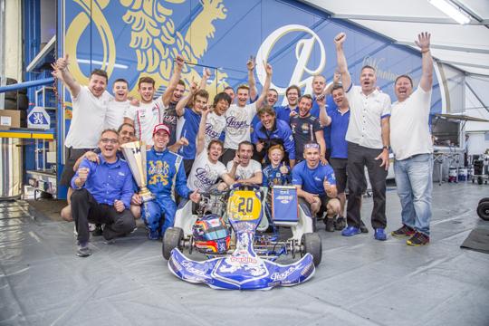 Podium for Praga Kart Racing Team