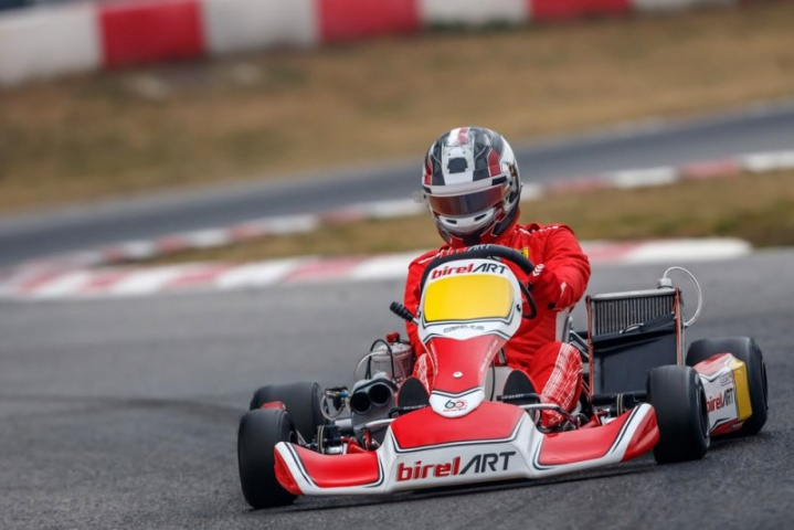 Charles Leclerc tested with Birel ART