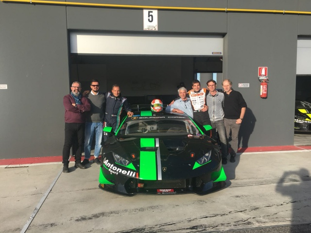 Paolo De Conto tests the Lamborghini Huracan SuperTrofeo